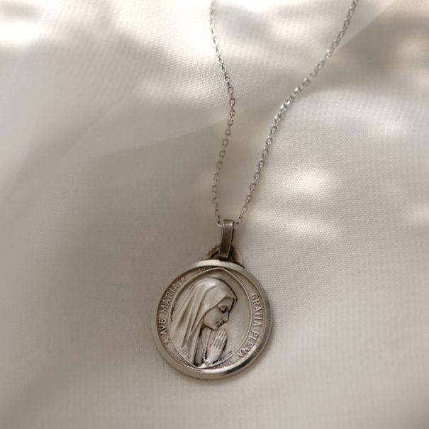 Médaille Vierge Marie Vintage Ave Maria